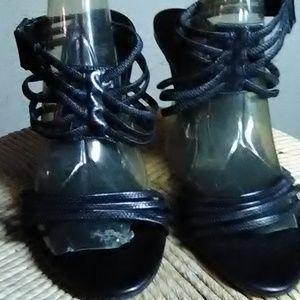 Colin Stuart Black Leather Stilettos Size 10B